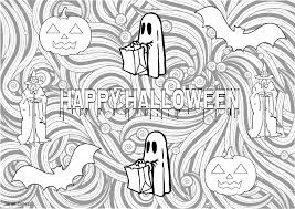 Happy Halloween Coloring Page by Free Halloween Coloring Pages Educational Printables