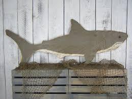 shark wood decor shark decor beach wall decor beach house
