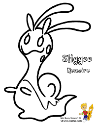 sliggoo pokemon x coloring pages images pokemon images