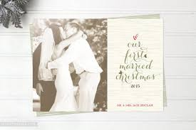 newlywed cards items similar to newlywed christmas cards just married photo
