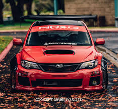 subaru wrx red heavily modified custom red subaru wrx on forged rims u2014 carid com