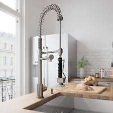vigo stainless steel pull out kitchen faucet vigo zurich stainless steel single handle pull spray kitchen