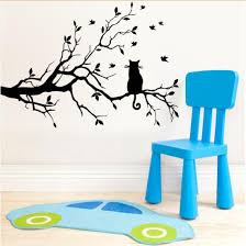 Decoration Cat Wall Decals Home by Black Cat Branch Wall Stickers Decal Home Decoration Removabl