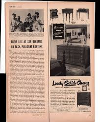 Cherry Bedroom Furniture Willett Solid Wildwood Cherry Bedroom Furniture 1950 Antique
