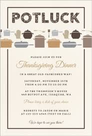 thanksgiving potluck invitation templates are great style to create
