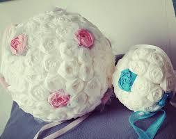 boulette papier mariage création boule de fleur en papier