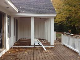 2 level deck half covered and half open patios porches and