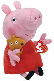 Peppa Pig Plush Ty Beanie Babies Peppa Pig Regular Plush Toys
