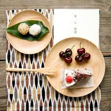 cuisine decorative style zakka wooden dishes plates tableware brief decorative