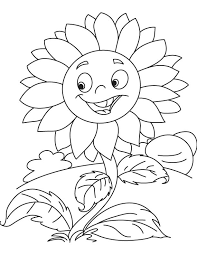 Smiley Sunflower Coloring Page Download Free Smiley Sunflower Sunflower Coloring Page