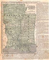 Louisiana Mississippi Map by Maps Antique United States Us States Louisiana