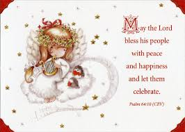 religious christmas greetings angel child with harp religious christmas card by designer greetings