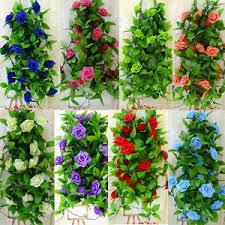 flower garland us 2 6m silk flower garland artificial vine home wedding