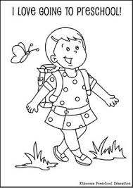preschool coloring pages school first day of preschool coloring page preschool pinterest
