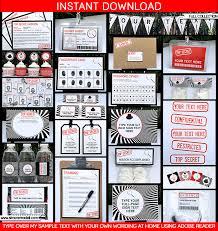 secret agent birthday party invitations spy party ideas