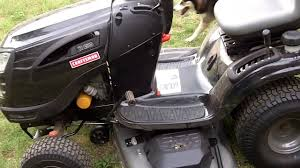 my aunt u0027s new craftsman yt 4500 lawn tractor youtube