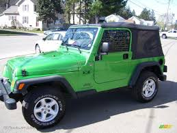 electric jeep 2005 electric lime green pearl jeep wrangler x 4x4 28402724