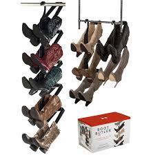 boot butler boot rack 5 pair hanging organizer u0026 shaper boot butler