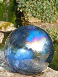 gazing balls glass ornaments garden accents garden décor