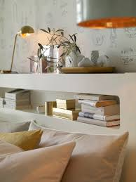 White And Gold Bedroom Ideas If Space Is Tight Widthways Then A Headboard Shelf Is The Perfect