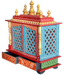 How To Decorate Mandir At Home New Star Home Decor Multicolour Wood Hanging Mandir Buy New Star