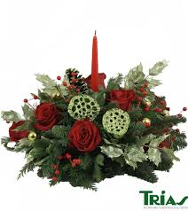 classical christmas centerpiece trias flowers miami fl