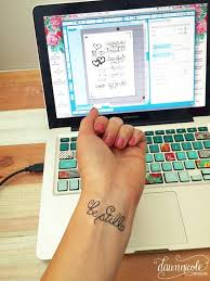 hand lettered temporary tattoos dawn nicole designs