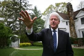 Clinton Estate Chappaqua New York Former Us President Bill Clinton At Home Chappaqua New York