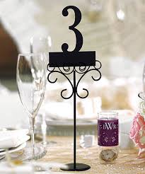 wedding table number holders wedding decorations 6 reception table number holders