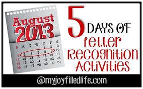 5 days of letter recognition activities abc bingo my joy