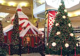 shopping center christmas decorations holiday mall displays