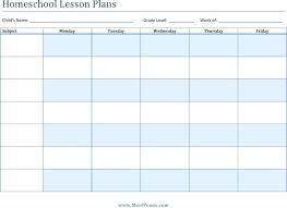 printable homeschool lesson plan template homeschool lesson plan template printable lesson plan template