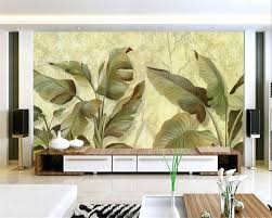 beibehang 3d wallpaper oil painting handmade banana leaf tv beibehang 3d wallpaper oil painting handmade banana leaf tv background wall decorative living room bedroom mural