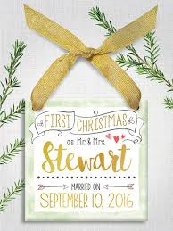 Personalized Wedding Christmas Ornaments 15 Best Newlywed Newly Engaged Christmas Ornaments Images On