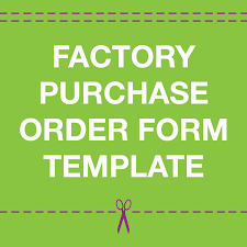 offshore garment manufacturing purchase order form template