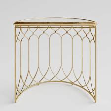 Uttermost Furniture Uttermost Floressa Gold Console Table 3d Cgtrader