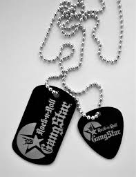 laser engraved dog tags tag guitar pendant necklace metal laser engraved rock and