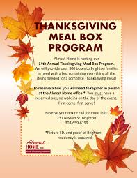 almost home hosting 14th annual thanksgiving meal program yourhub
