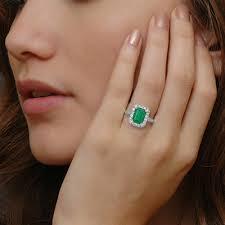 emerald rings art deco emerald engagement ring