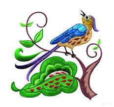 birds paradise jf307 embroidery design