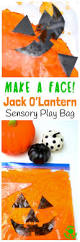make a face jack o u0027lantern sensory play bag kids craft room