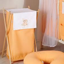 panier a linge chambre bebe panier à linge sale pas cher chambre bébé orange ours nuage