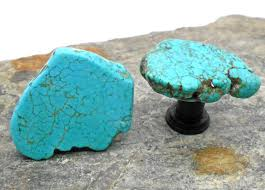 knobs stone knobs cabinet knobs turquoise set of 2 stone