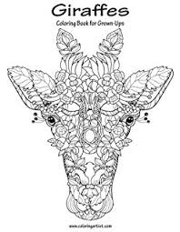 amazon com giraffe coloring book an coloring book of 40