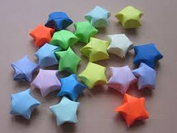 lucky paper stars an origami shape papercraft on cut out