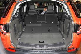land rover discovery sport trunk space land rover discovery sport seat folded at the 2015 gaikindo