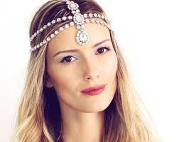 headpiece jewelry marion chain bridal jewelry silver