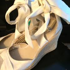 ugg sale wedges 79 ugg shoes sale ugg white ankle wrap espadrille