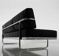 corbusier sofa le corbusier lc5 chromed metal and leather sofa 1934 2