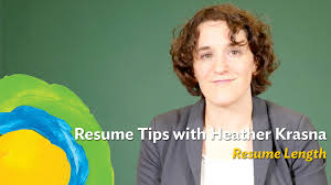 How Long Should Resumes Be How Long Should Your Resume Be Youtube